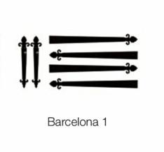 Barcelona straps and handles for garage doors