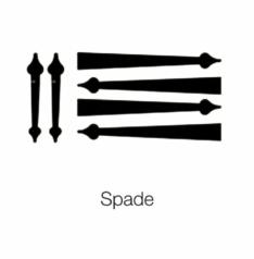 Spade straps and handles for garage doors